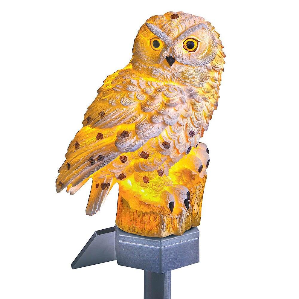 Creative Animal Owl Solar Light With Solar LED Panel Path Lawn Yard Garden Lamps 2V 600 MAh AA Rechargeable Battery Garden Lamp