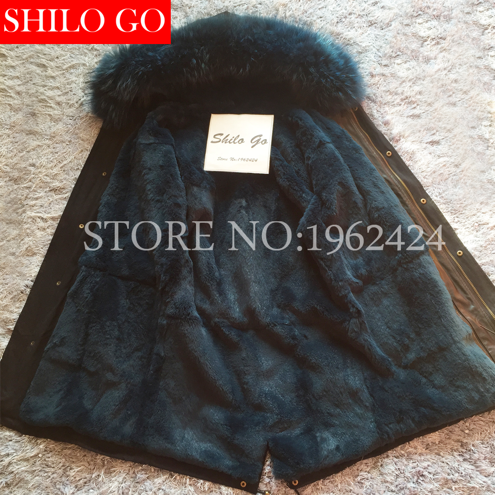 winter jacket coat women 2017 natural real Large raccoon fur collar hooded Army green parkas outwear detachable rabbit lining children army coat kids real raccoon collar fur jacket outdoor parkas army green rex rabbit fur hooded jacket for girl