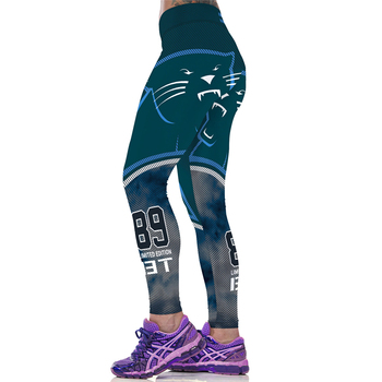 Sport Women Leggings High Waist Trouser Workout Capris Sexy Slim Fitness Jogging Jeggings America Football Cat 3D Print Gym Pant
