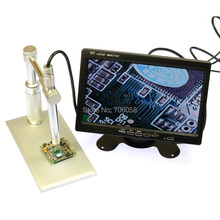 Microscope the Endoscope Camera 200X HD Digital AV Endoscope 8 LED light 7″ inch LCD Monitor Alloy Stand 5V 1A Power Supply