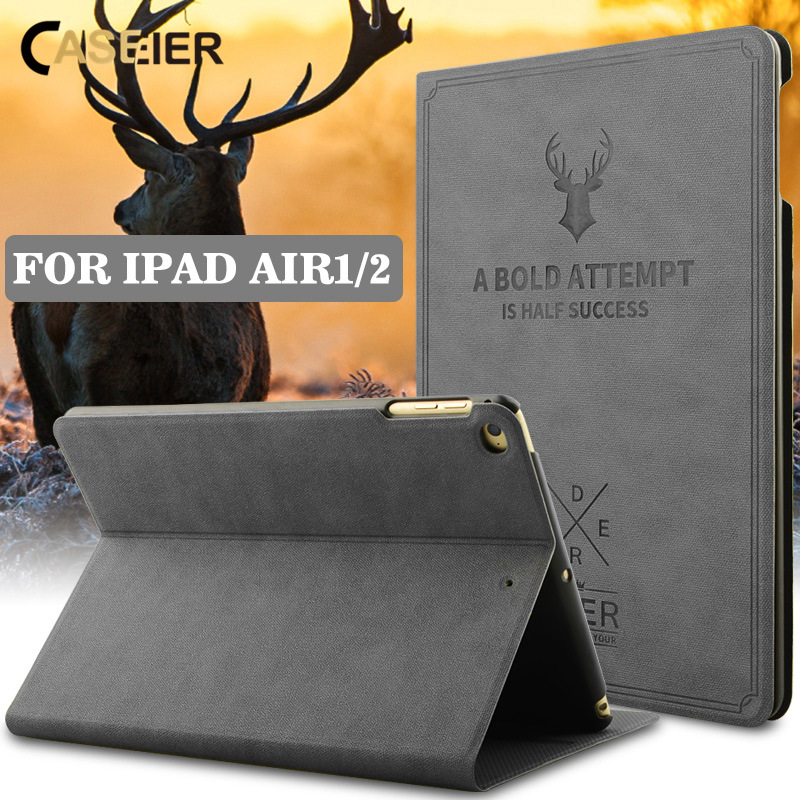 CASEIER Retro Nordic Tablet Cover For iPad Air 1 2 Case Luxury PU Funda For iPad Mini 1 2 3 Smart Sleep 2018 Coque Carcasa Cases