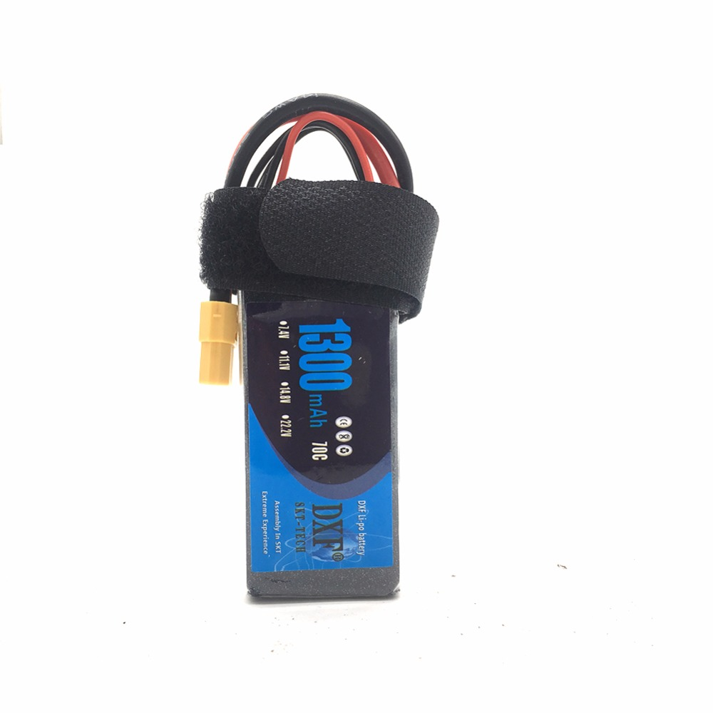 DXF 1300mAh 11.1V 70C(Max 140C) 3S Lipo Battery Pack for FPV Racer image