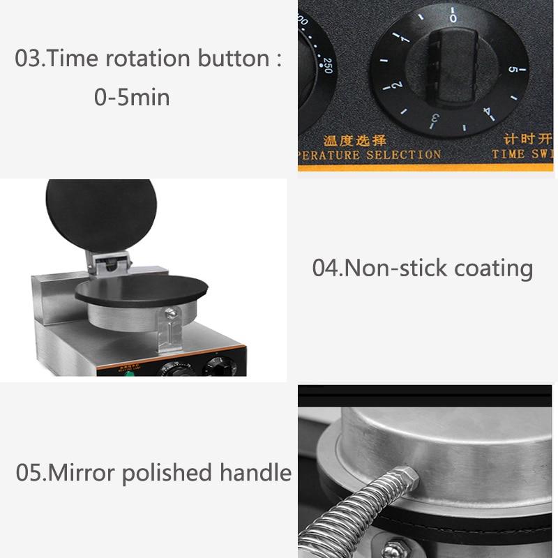 rolo de ovo máquina de waffle waffle