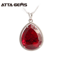 Red Ruby 925 Sterling Silver Women Pendant 8 85 Carats Top Quality Women Fine Jewelry For