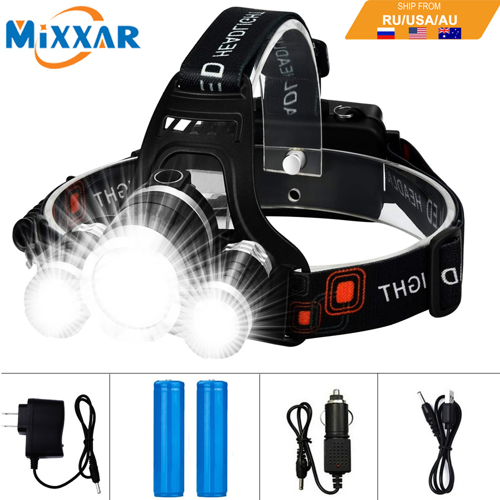 Dropshipping 13000LM T6 LED Headlamp 4 Mode Hemat Energi Luar Lampu Olahraga Camping Fishing Head Lamp Head Light