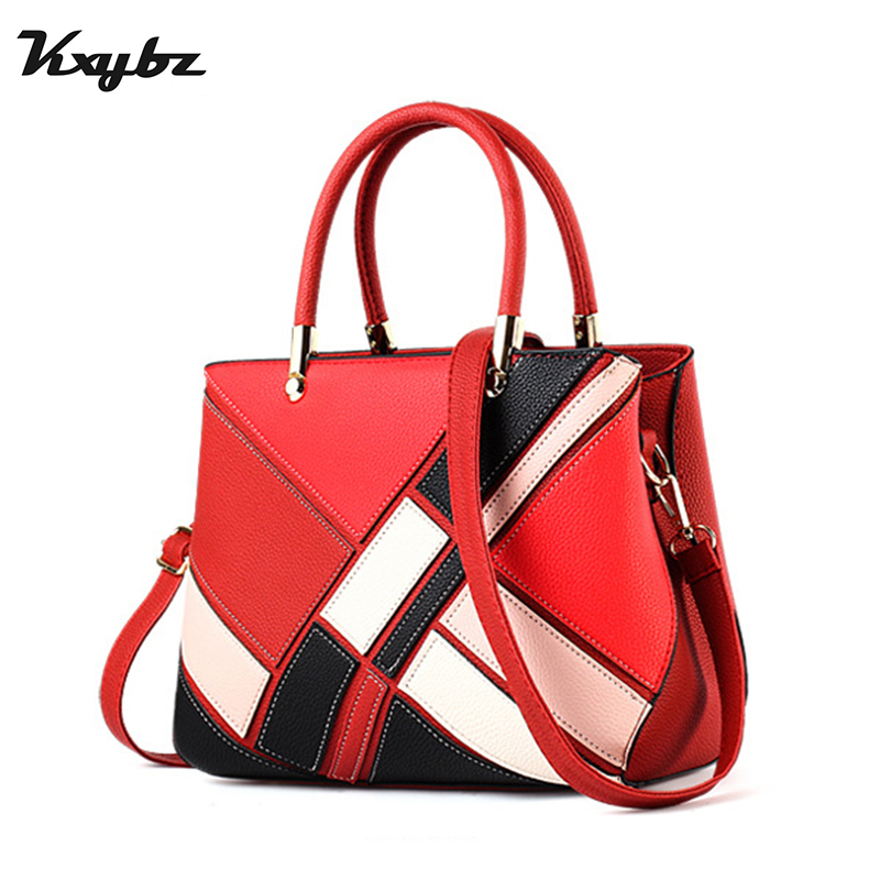 KXYBZ Luxury Handbags Women Bags Designer Fashion Crossbody Bag For Women Handbag Ladies Patchwork Soft PU Leather 2018 Tote Bag