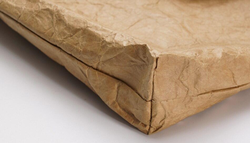 retro hand-held dobra lazer grande sacola de papel Dupont saco