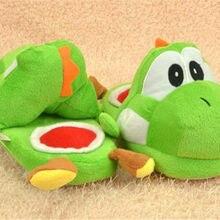 73ec7916dd874 1 paire 13x26 cm chausson peluche une paire chaussures animaux verts Super  Mario Brothers Yoshi cadeaux