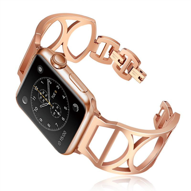 Rose gold Women Bracelet Watchbands Rose Gold Bracelet Strap For Apple Watch Band 44/40/42/38mm iwatch Series4/3/2/1 Men StrapRose gold Women Bracelet Watchbands Rose Gold Bracelet Strap For Apple Watch Band 44/40/42/38mm iwatch Series4/3/2/1 Men Strap