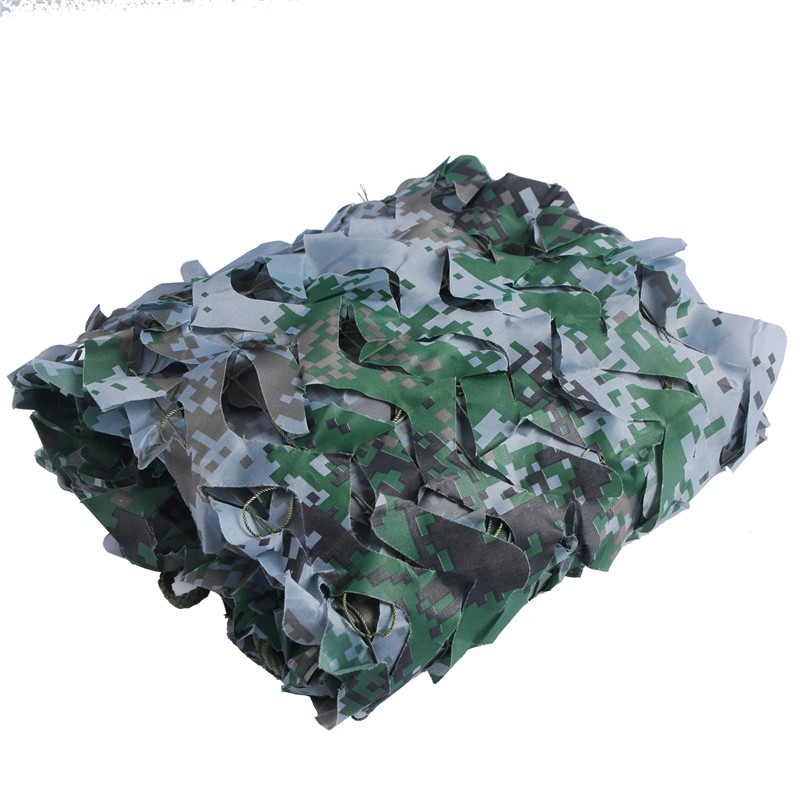 3*6M Camouflage Net Awning Tent Outdoor Camping 150D Polyester Oxford Camouflage Net Beach Camping Tourist Party Recreation Tent 5 5m camouflage net camping beach tents 150d polyester oxford ultralight sun uv camouflage net outdoor camping beach tents