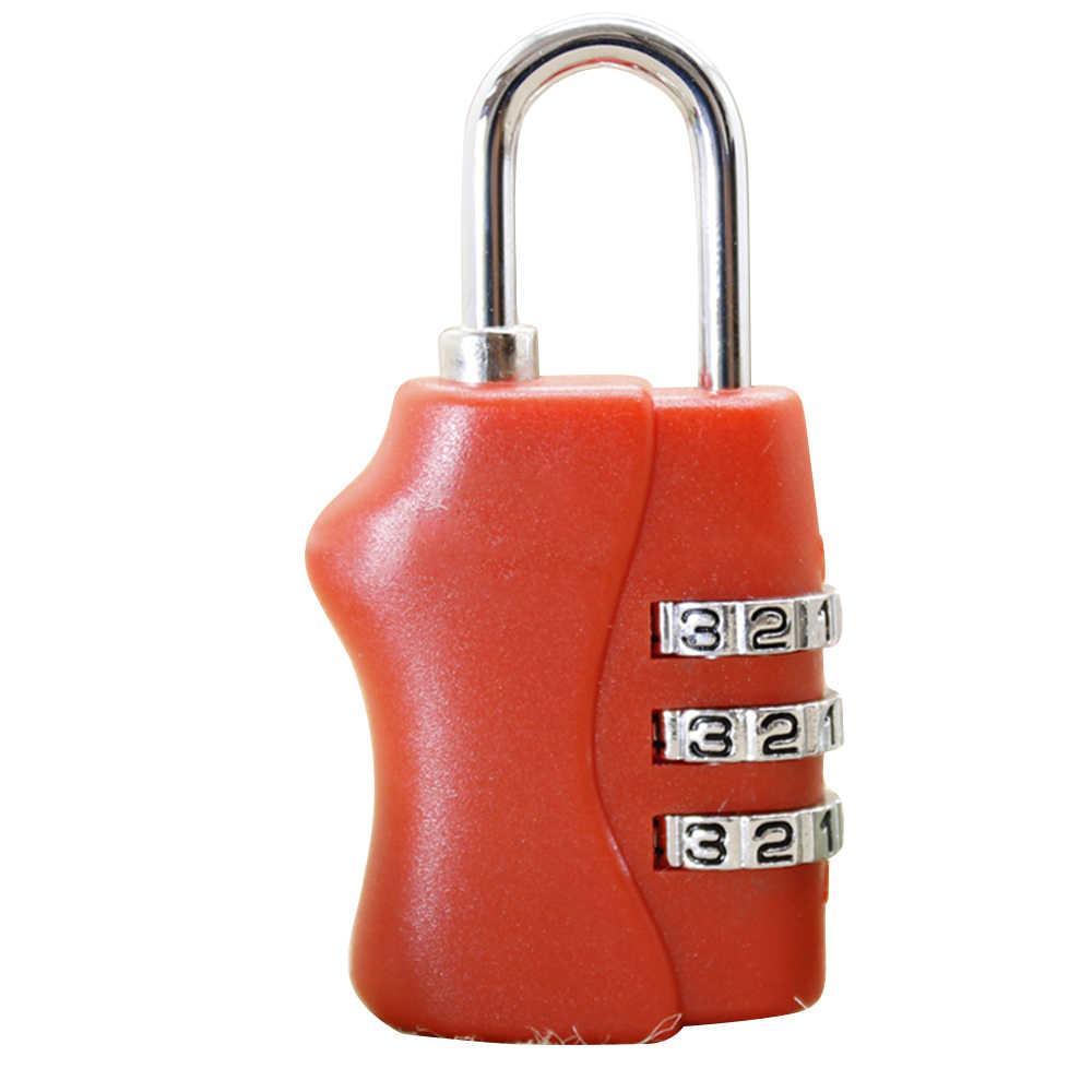 Lock Resettable 3 Cijfercombinatie Travel Bagage Koffer Codeslot Hangslot Codeslot Rugzak Lock Kind Orthopedie Tassen