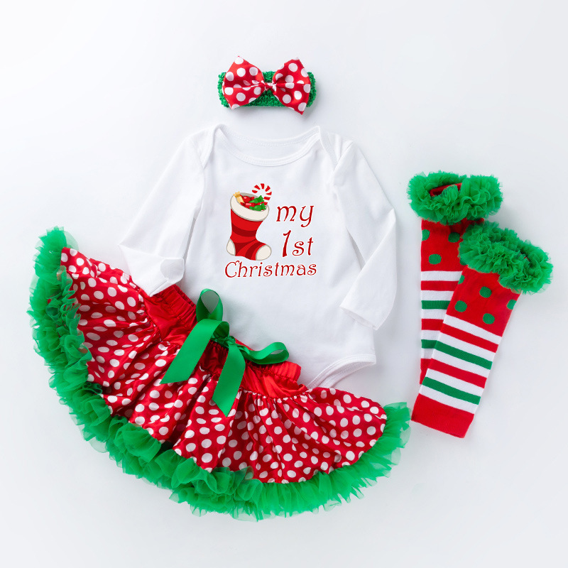 c40c3725b Newborn Girl Clothes Baby Girl Christmas Outfits Sets Infant Girl ...
