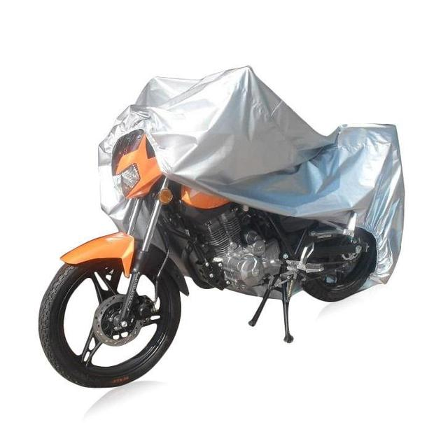 free motorcycle l  L Silver 180T Polyester Motorcycle Cover Double Stitched UV Treated ...