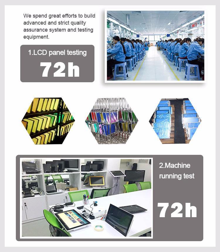 17.3 polegada Intel J1900 shopping quiosque da