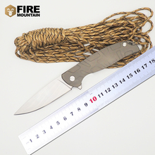 Brand Tabargan 95 Folding Blade Tactical Knife 440c Blade Steel Handle Ball Bearings Flipper Survival Camping Knives Tools