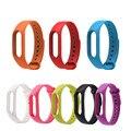 Substituir a alça de silicone para xiaomi mi banda 2 versão banda de fitness rastreador para mi 2 inteligente pulseira 9 cores
