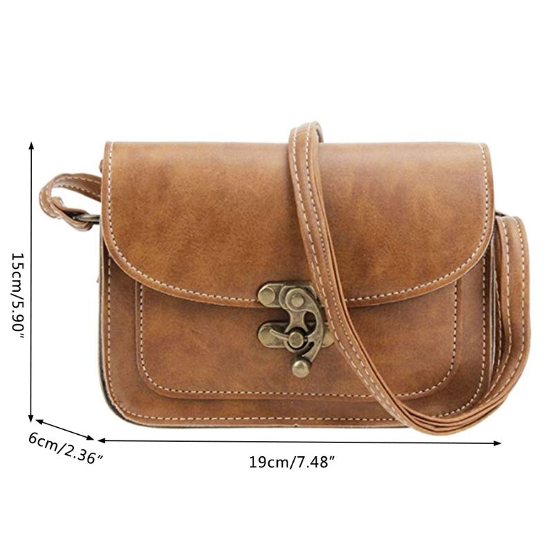 Women Ladies Crossbody Leather Shoulder Bag Small Tote Purse Handbag Messenger Satchel in Top Handle Bags from Luggage Bags