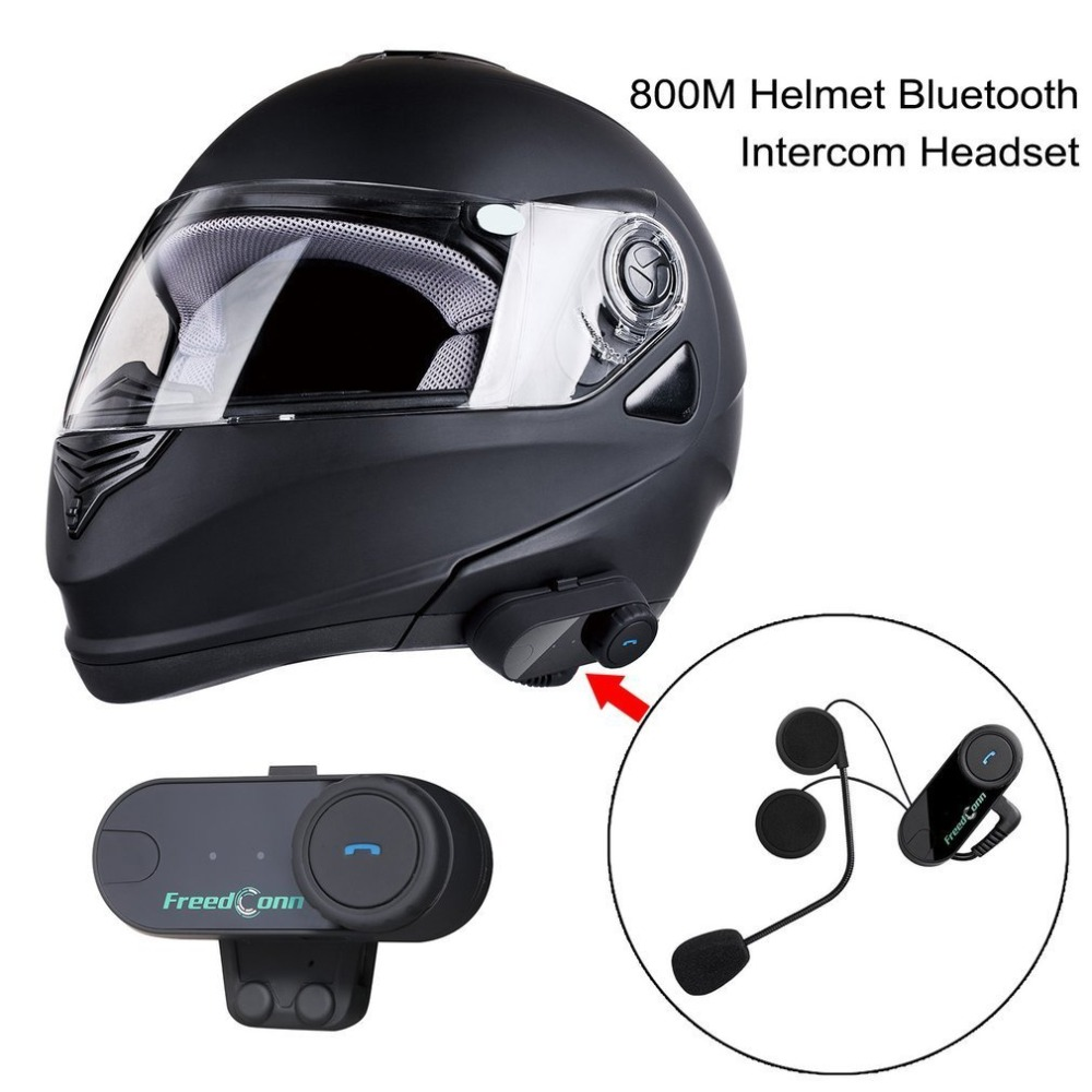 New 800M Professional Intercom Headset Wireless Interphone Bluetooth Motorbike Motorcycle Helmet Interphone Headset Hot EU Plug