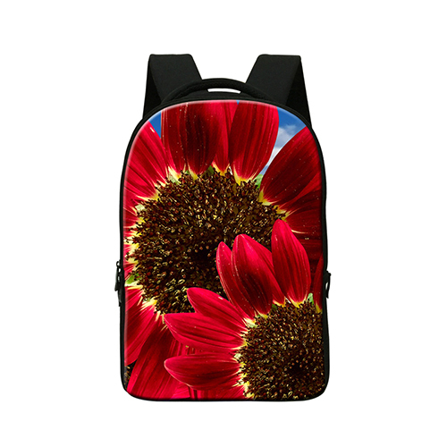 Laptop Computer Bag for 14 Inch Devices 3D flower printing bookbag for college girls Nice mochila