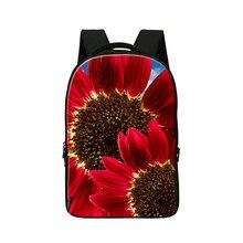 Ноутбук Сумка для 14 Дюймов Устройств, 3D цветок печати bookbag для девочек колледжа, Хороший mochila, день пакет для женщин, Школьные сумки