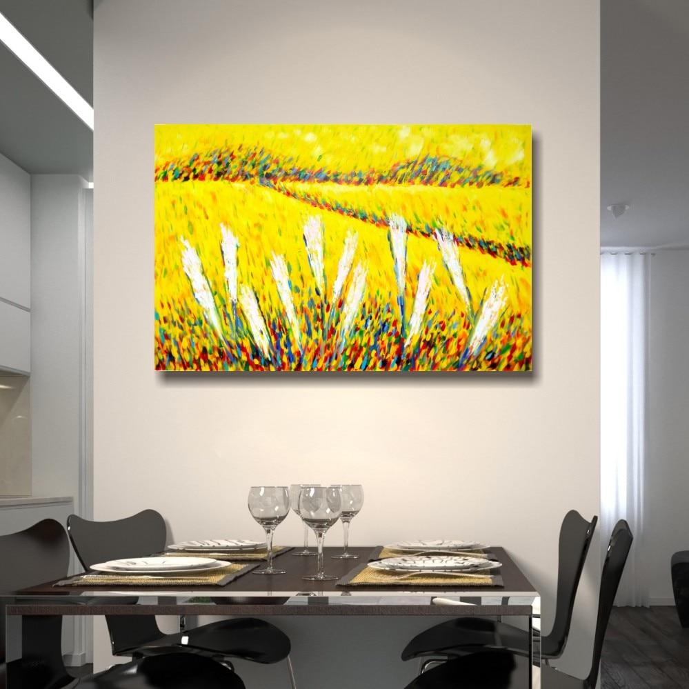 100% pintado a mano lienzo artista Van Gogh paddy pintura paleta - Decoración del hogar - foto 3