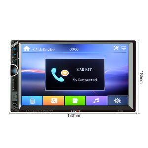Image 3 - AOSHIKE 7 אינץ 2 דין רכב MP5 מולטימדיה נגן רכב U דיסק TF כרטיס מכונה עם שלט הגה רכב Bluetooth רדיו
