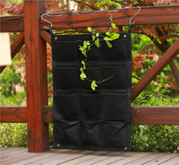 12 Pocket NEW Felt Outdoor Vertical Gardening Flower Pots And Planter Hanging Pots Planter On Wall
