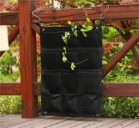 12 Pocket NEW Felt Outdoor Vertical Gardening Flower Pots And Planter Hanging Pots Planter On Wall