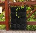 Pocketgarden 12-карман Новый фетр открытый вертикальное садово-цветочные горшки и ящик для комнатных растений  висит горшки для цветов на стене зе...