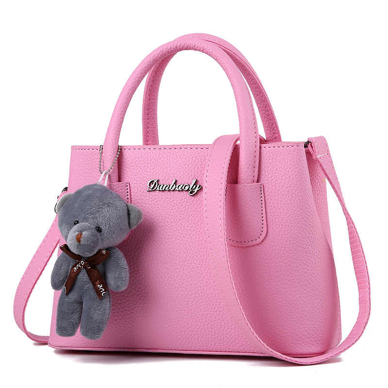 Swdf Tas Wanita Baru Wanita Merek Nama Designer Luxury Kulit Women 'S Tas Wanita Messenger Tas Wanita beruang Gantung Kopling