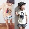 Bobo * choses * nuevo 2016 del bebé del algodón del verano camisetas niños de moda paño superior 1-6Y alta calidad envío gratis