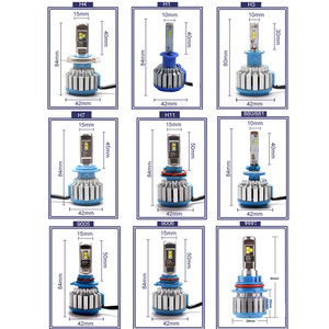 Image 2 - AICARKAS 2PCS T1 Turbo LED 7200LM 6000K H4 H1 H3 Auto Scheinwerfer H7 LED H11 880/881/H27 9005 HB3 9006 HB4 9007 HB5 Nebel Glühbirne