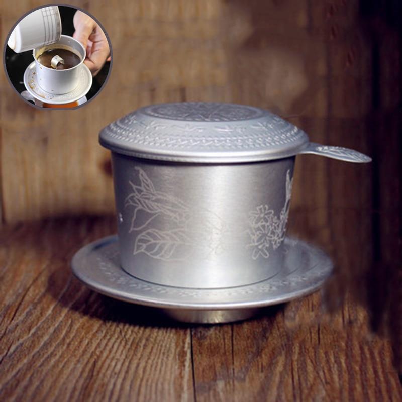Портативный алюминиевый вьетнамский кофе капельница фильтр Кофеварка Высокое Качество рафинированного капельного Zhongyuan льда кофе фильтр ...