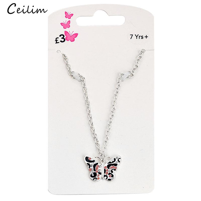 Szép stílus pillangó medál nyaklánc gyerekeknek Gyermek lány - Divatékszer