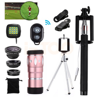 Universal Clips 15in1 Phone Lens Kit 10x Zoom Telephoto Lentes Fisheye Wide Angle Macro Lenses For