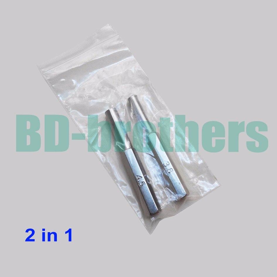 2 in 1 Security Bit 3.8mm 4.5mm Hexagon Screwdriver Open Tool Gamebit for Nintendo NGC SFC MD NES N64 SNES Gameboy 1000set/lot(China)
