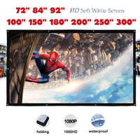 Yovanxer HD high contrast Projector Screen pantalla proyeccion Front Projection Screens with Eyelet High Brightness