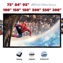 Yovanxer Hohe Kontrast Projektor Bildschirm Pantalla Proyeccion Front Projektion mit Ösen Matt Weiß HD/4K Unterstützt