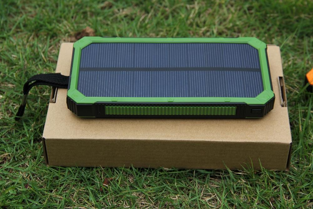 PowerGreen Solar Powerbank Karabijnhaak Ontwerp Dual Port USB-oplader - Mobiele telefoon onderdelen en accessoires - Foto 6