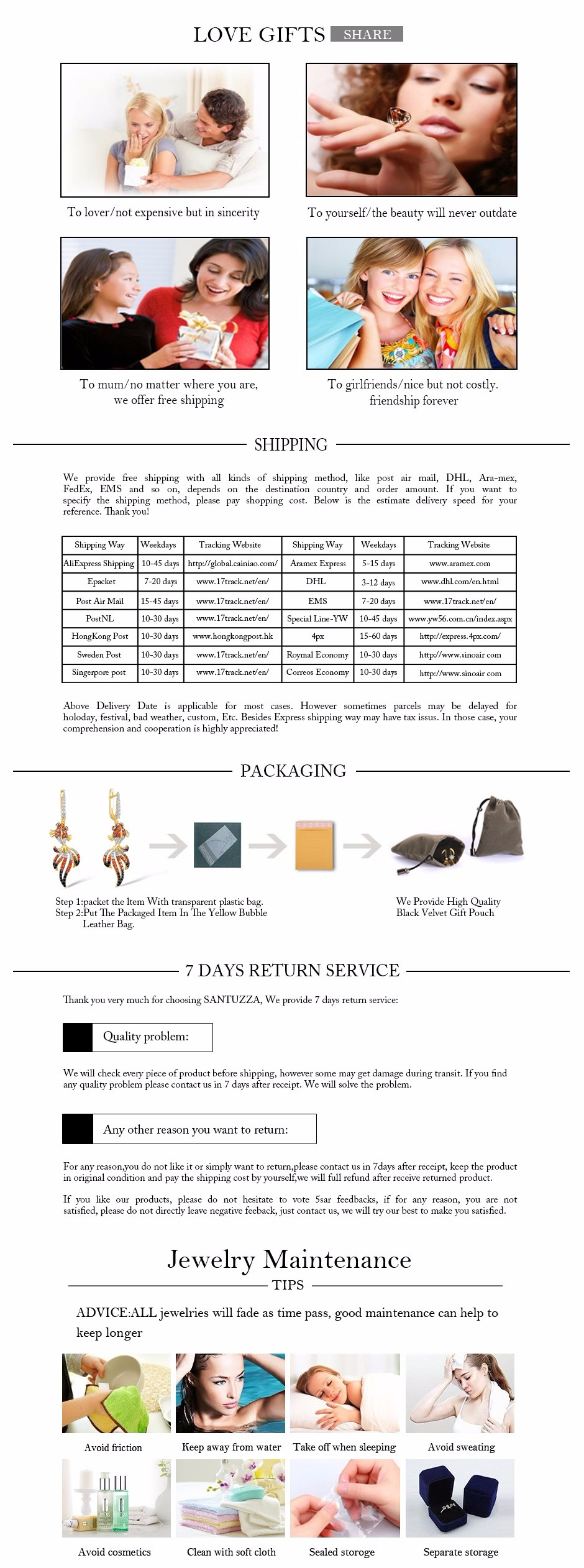 4 - shipping N return  policy