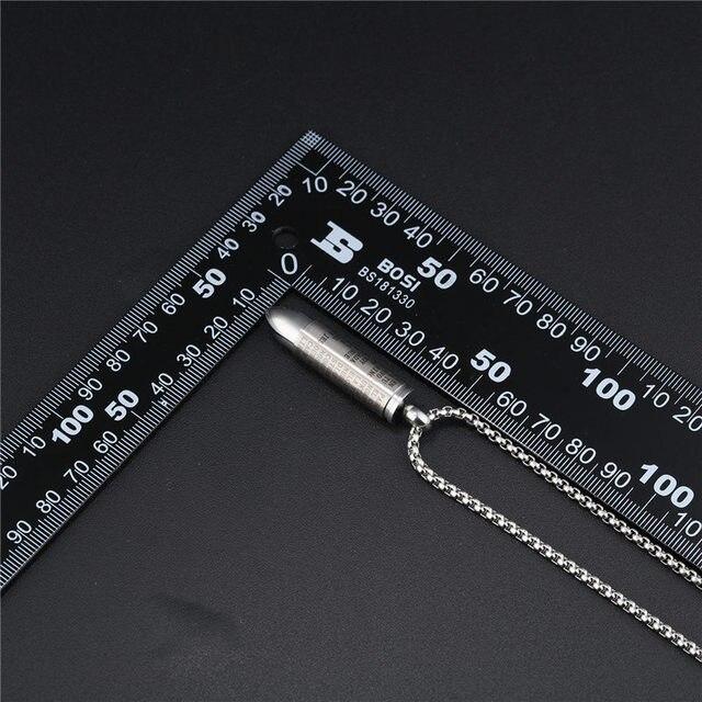 V. ya punk bala pingente colares para homens cruz & bíblia design caixa link corrente 3 cores deus abençoá-lo moda desparafusado presente
