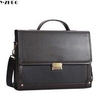 Hot Sale Brand Leather Briefcase Business Man Handbags Tote Men Messenger Shoulder Bag Combination Lock Men