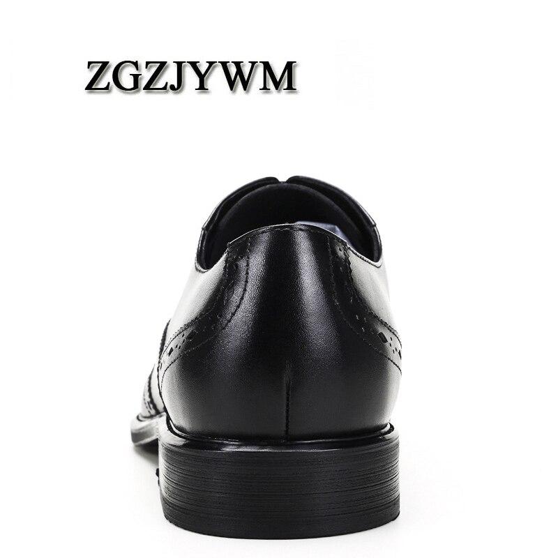 Encaje Zgzjywm Hombres Formal Genuino Boda Vestido Negro Black Zapatos Punta De Transpirable red Negocios Oxfords Cuero Tallada Oficina rojo SqIq4r