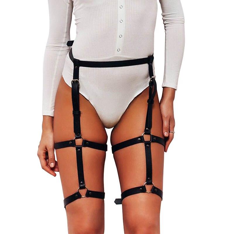 UYEE Трендовое сексуальное женское белье ремень Регулируемый кожаный подвязка для женщин эротический пояс для тела подтяжки жгут LB-007 - Цвет: LP-001