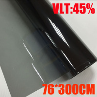 VLT 45% 76cmx300cm/Roll Light Black Car Window Tint Film Glass 1 PLY Car Auto House Commercial Solar Protection Summer