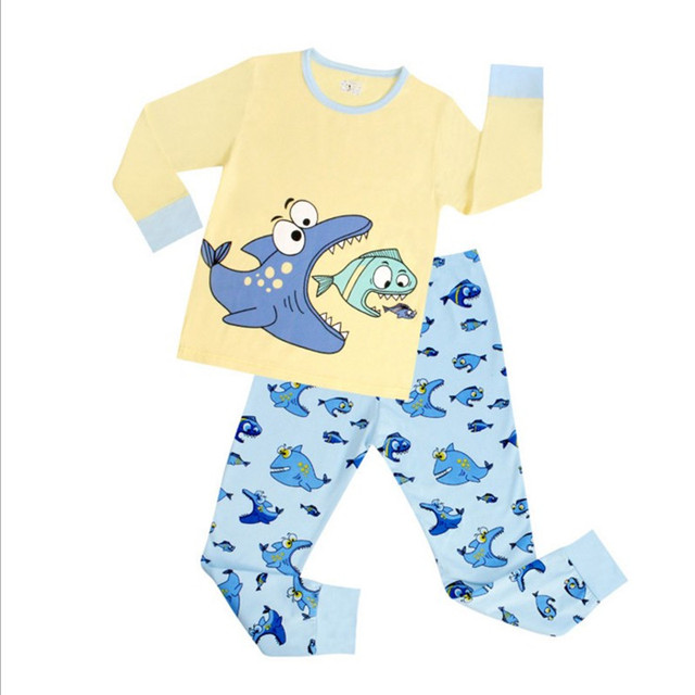 1e7127d90794 New cotton girl Pajamas Sets children boys Brand Cartoon Long Sleeve ...