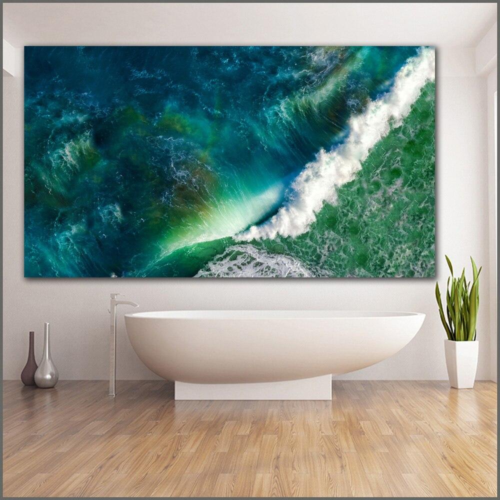 Impresión de gran tamaño pintura al óleo olas mar océano stock ...