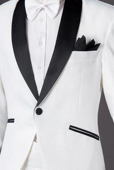 Shawl Lapel Custom Made Wedding Groom Tuxedos Groomsman Best Man Party Prom Suit C88