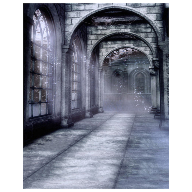Halloween Mysterious Scene Gothic Domed Architecture Arch Door P Ography Backdrops Picture Backgrounds Wall Mural Colour Nam