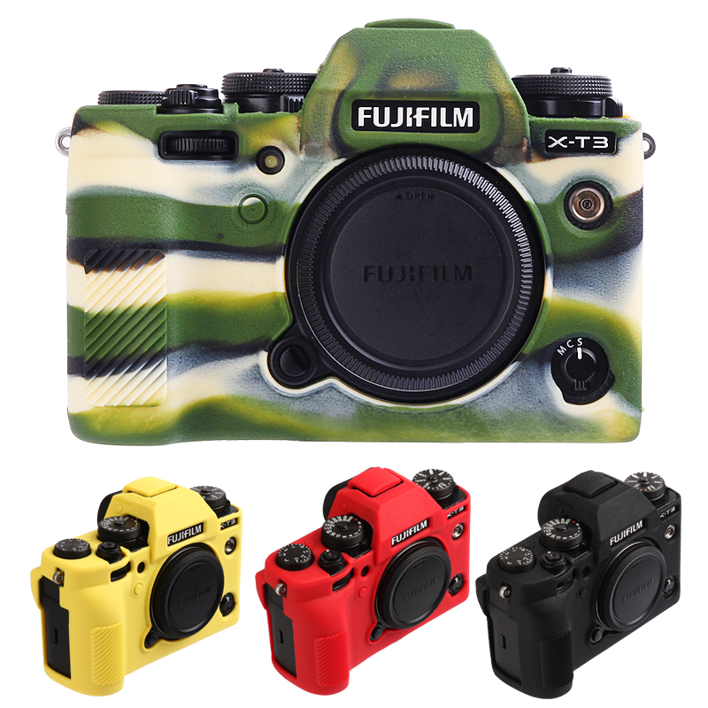 Soft Silicone Rubber Camera Protective Body <font><b>Case</b></font> Skin For <font><b>Fujifilm</b></font> Fuji <font><b>X</b></font>-<font><b>T3</b></font> XT3 Camera Bag protector cover image